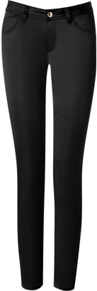 Just Cavalli Black Satin Five-Pockets Pants