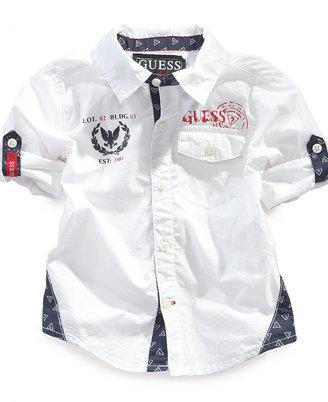 GUESS Boys' Woven Shirt