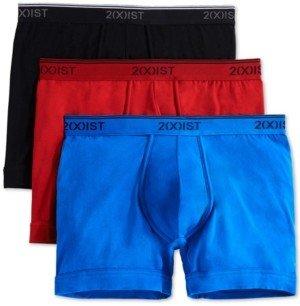 2xist Men's Cotton Stretch Boxer Briefs 3-Pack