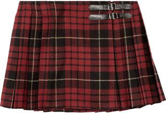 McQ by Alexander McQueen Wool tartan mini kilt