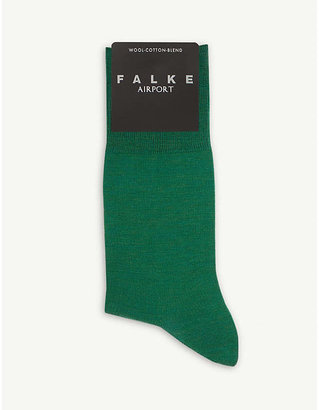 Falke Mens Sapphire Blue Airport Knitted Socks