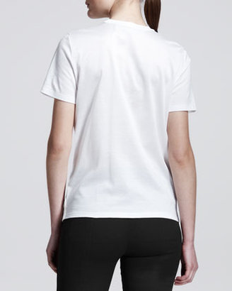 Reed Krakoff Leather-Front Cotton T-Shirt
