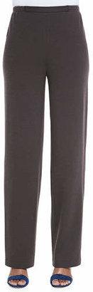 Caroline Rose Flat Wool-Knit Pants