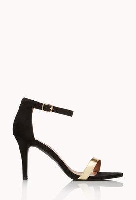 Forever 21 Sleek Ankle Strap Sandals