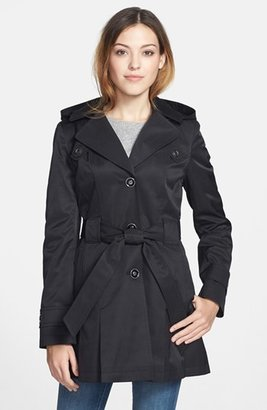 Via Spiga 'Scarpa' Single Breasted Hooded Trench (Regular & Petite) $198 thestylecure.com
