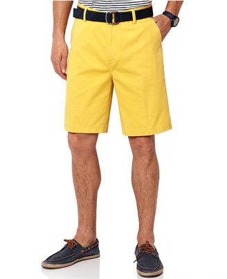 Nautica Shorts, Twill Flat Front Shorts