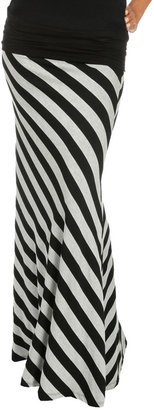 Arden B Bias Stripe Maxi Skirt
