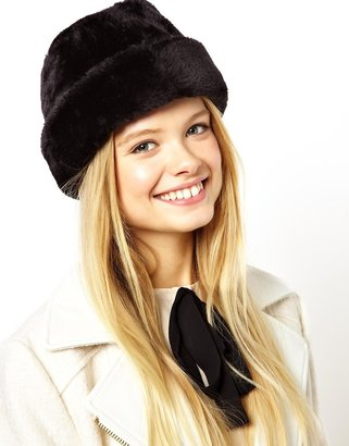Asos Traditional Faux Fur Cossack Hat - Black