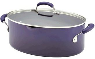 Rachael Ray 8-qt. Oval Nonstick Porcelain Enamel II Pasta Pot, Eggplant Gradient