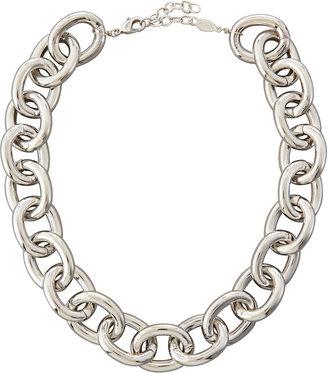 A.V. Max Silvertone Cable Necklace