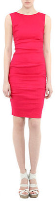 Nicole Miller Sleeveless Side-Ruched Dress