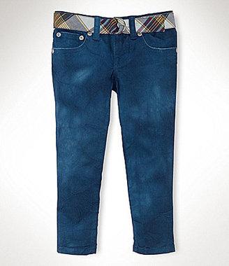 Ralph Lauren 2T-6X Denim Cropped Skinny Jeans