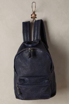 Anthropologie Snake-Embossed Backpack