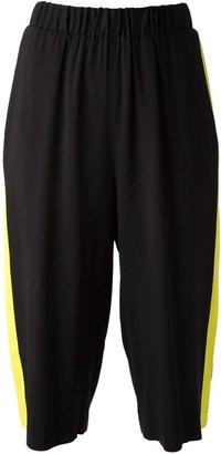 MSGM striped detail shorts