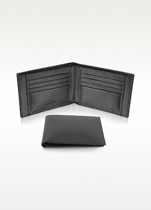 Giorgio Fedon Class - Men's Black Grained Leather Billfold Wallet
