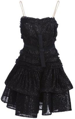 Lanvin flared lace dress
