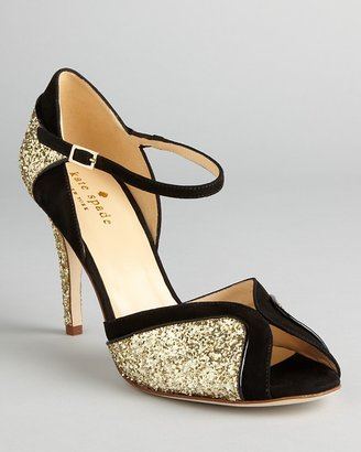 Kate Spade Peep Toe Evening Sandals - Corinne High Heel