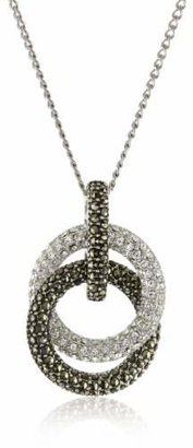 "Judith Jack Sterling Silver Marcasite and Crystal Pave Knot Pendant Necklace, 16"" $145 thestylecure.com"