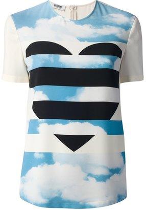 Moschino Cheap & Chic cloud striped heart top