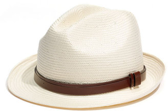 Halogen Leather Belt Fedora