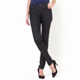 La Redoute Collections Slim-Fit Coated Trousers, Length 32.5""