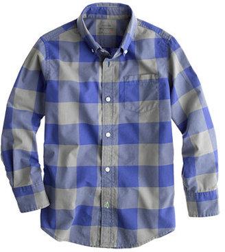 J.Crew Boys' Secret Wash shirt in two-tone giant gingham