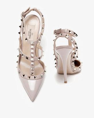 Valentino Rockstud Slingback Patent Leather Stiletto: Nude