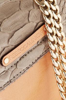 Rebecca Minkoff Collection Huntington python shoulder bag