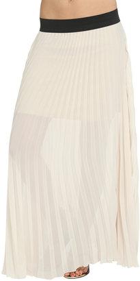Arden B Vertical Pleated Maxi Skirt