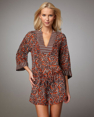 Tory Burch Mixed-Print Coverup