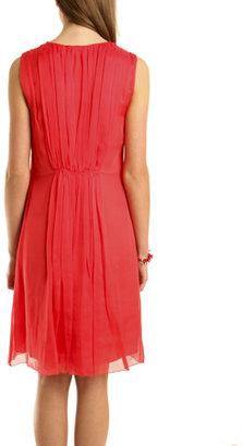 L'Agence Shirred Goddess Dress