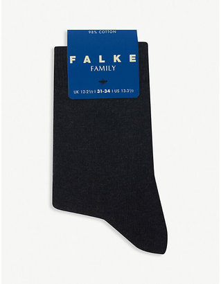 Falke Family cotton-blend socks, Size: 23-26, White