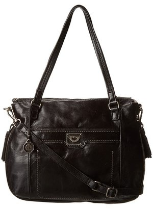 The Sak Huntington Satchel (Black Distressed) - Bags and Luggage