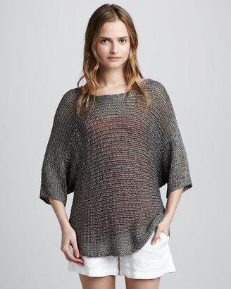 Vince Metallic Knit Sweater