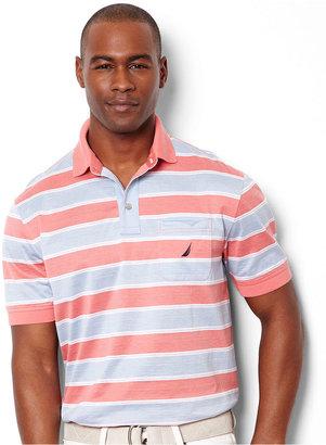 Nautica Shirt, Short Sleeve Wide Stripe Polo Shirt