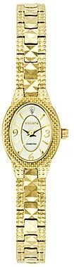 Elgin Womens Mother-of-Pearl Gold-Tone Watch