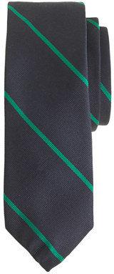 J.Crew English silk tie in thin stripe
