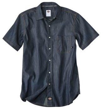 Dickies Men's Regular Fit Rinsed Premium Denim Work Shirt