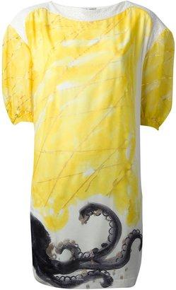 Tsumori Chisato panelled octopus print dress