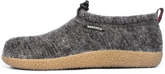 Giesswein Slipper Vent Grey 38 - Closed Felt Slippers Warm Unisex houseshoe Tough Anti-Slip Sole Slippers with Cord for Men & Women Comfortable Mules incl. Interchangeable Leather Footbed Inlays