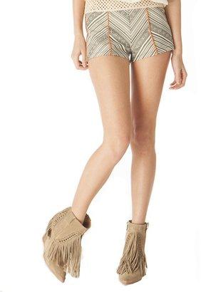 Pink Mascara Jaquard Pattern Shorts