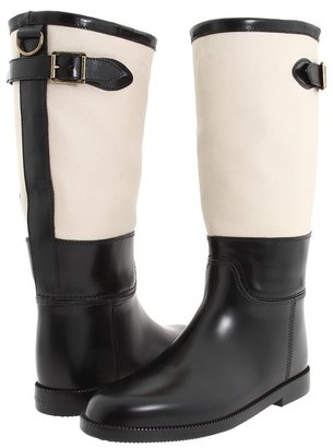 Burberry Warrington Rain Boot (Black/Trench) - Footwear