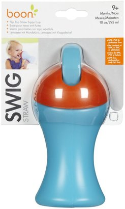Boon SWIG Flip Top Sippy - Blue/Orange - 10 oz
