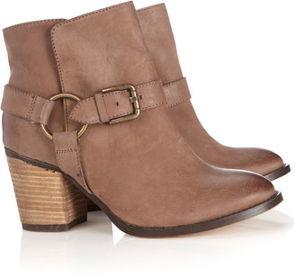Wallis Tan Leather Buckle Ankle Boot
