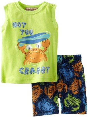 Kids Headquarters Baby-Boys Infant Muscle Tee With Swim Trunks