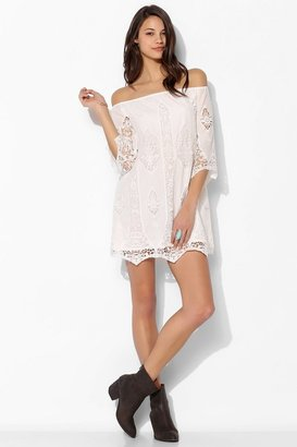 Urban Outfitters Staring At Stars Penny Crochet Shift Dress