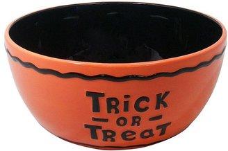 "Halloween ceramic ""trick-or-treat"" bowl"