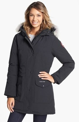 Women's Canada Goose 'Trillium' Regular Fit Down Parka With Genuine Coyote Fur Trim $900 thestylecure.com