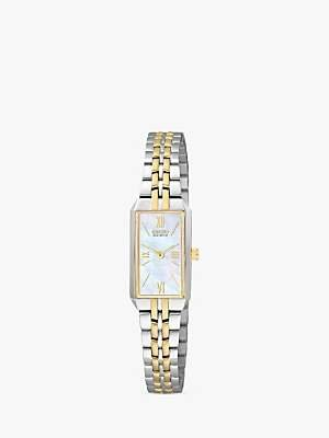 Citizen EG2694-59D Women's Eco-Drive Silhouette Bracelet Strap Watch, Silver/Gold