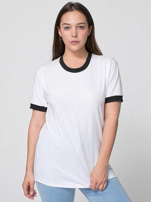 American Apparel Unisex Poly-Cotton Short Sleeve Ringer T-Shirt